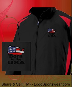 Proud To Be An American Logo Jacket Design Zoom
