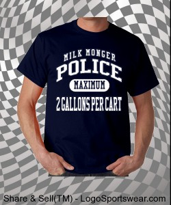 Milk Monger Police T-Shirt Design Zoom