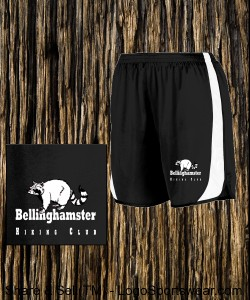 Bellinghamster Raccoon Hiking Club Shorts - High Quality Shorts Design Zoom