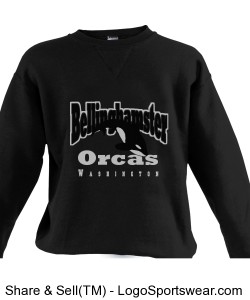 Bellinghamster Orcas Custom Sweatshirt Design Zoom