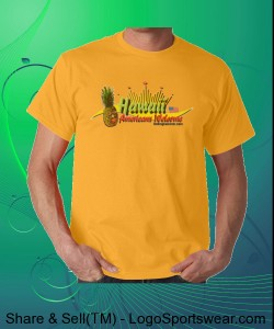 Americans Welcome! Hawaiian T-shirt Design Zoom