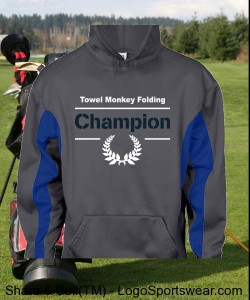 Champion Hoodie - Towel Folding Champion Design Zoom